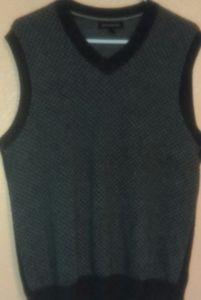 Banana Republic gray wool blend sweater vest